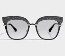 Rosy Sonnenbrille aus schwarzem Metall