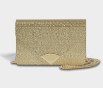 Barbara Medium Envelope Clutch Tasche aus goldfarbenem Leder 18K