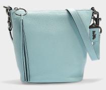 Kleine Handtasche Duffle aus helltürkisem Kalbsleder
