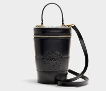 Handtasche Star Porté Travers aus schwarzem Kalbsleder