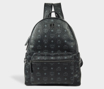 Stark Medium Backpack in Black Coated Canvas