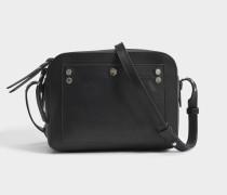 Box Tasche aus schwarzem Leder