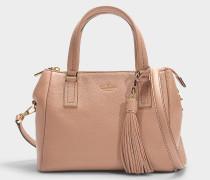Kleine Handtasche Fourre-tout Alena aus beigem Kalbsleder
