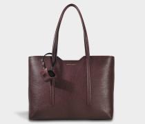 Taylor Shopper Tasche aus dunkelem rotem Kalbsleder