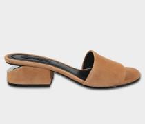 Lou Low Heel Sandalen aus Ziegenleder