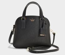 Kleine Handtasche Lottie Cameron Street aus schwarzem Kalbsleder