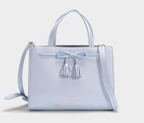 Handtasche Sam Thompson Street aus blauem Kalbsleder