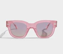 Frame Sonnenbrille aus rosanem und violett Glitzer Acetat