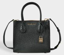 Handtasche Mercer Medium aus schwarzem Kalbsleder