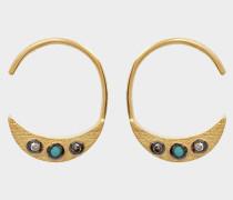 Jessie Hoop Ohrringe aus 24K goldfarbenem-plattiertem Silber und Diamanten