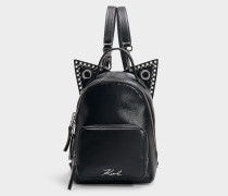 Mini Rucksack K/Rocky Choupette aus schwarzem Kalbsleder