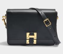 The Quick Large Tasche aus schwarzem Kuhleder