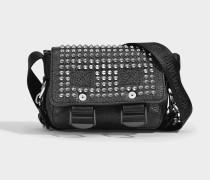 Readymade Nano Tasche aus schwarzem gestepptem Kalbsleder
