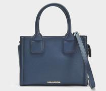 K/Klassik Mini Tote Bag aus navyblauem Saffiano