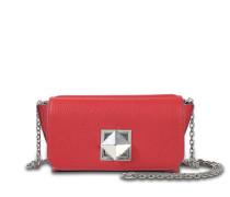 Le Cpoin Medium Tasche aus Ruby Ziegenleder