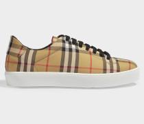 Sneaker Westford aus altgelber Baumwolle