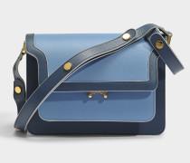 Medium Trunk Tasche aus Opal Saffiano Leder