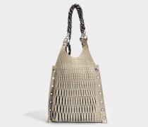 Baltard Medium Tote Bag aus Sand Kalbsleder