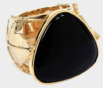 VITIS RING WITH BLACK AGATE