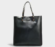 Shopper Vitello aus schwarzem Kalbsleder