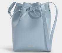 Bucket Bag Mini Bucket aus blaugrauem Kalbsleder