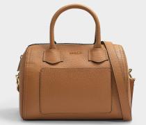 Tasche Alba S aus camelfarbenem Leder