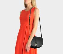 Angele Tasche aus schwarzem glattem Kalbsleder