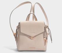 Bristol small Backpack aus Soft rosanem Pebble Leder