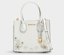 Handtasche Mercer Medium aus weißem Kalbsleder