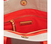 Miller Canvas Mini Tote Bag aus Natur und Poppy rotem Canvas
