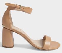 Partlynude Sandalen mit Heel aus Nude Nappaleder