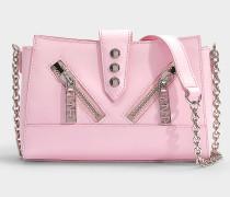 Handtasche Mini Kalifornia aus rosa Kalbsleder