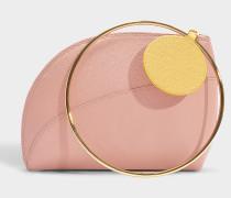 Kleine Handtasche Eartha aus rosa Leder