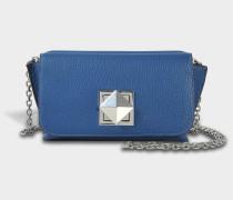 Le Copain Medium Tasche aus navyblauem Ziegenleder