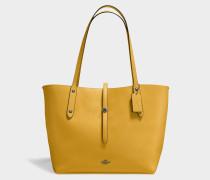 Markund Tote Bag aus gelbem Kalbsleder