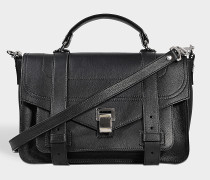 Tasche PS1 Medium + aus genarbtem Leder