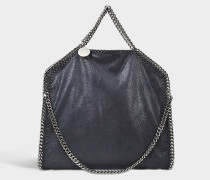 Handtasche Falabella 3 Chains Shaggy Deer aus Synthetikmaterial in Marineblau