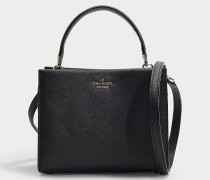 Kleine Handtasche Sara Cameron Street aus Kalbsleder Saffiano in Schwarz