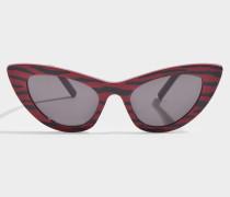 Shiny Solid Red + Black Zebra pattern