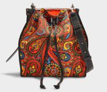 Handtasche Drawstring aus orangener Baumwolle