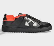 Sneaker Classic aus schwarzem, glattem und weißem Kalbsleder