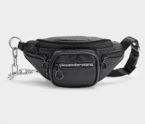 Mini Tasche Crossbody Attica Soft aus schwarzem, mattem Nappaleder