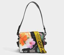 Tasche mit Taschenklappe floral