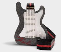 Minaudière Guitar aus schwarzem Synthetikmaterial