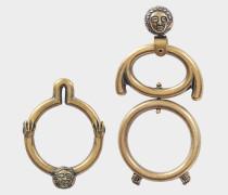 Asym rical Ohrringe aus goldfarbenem Messing