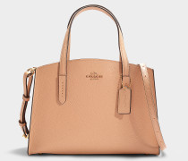 Charlie 28 Carryall in Beige Polished Pebble Leather