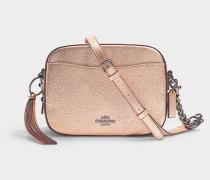 Camera Bag aus rosa Kalbsleder