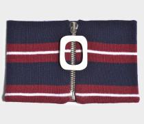 Choker JWA Stripe aus Merinowolle in Bordeauxrot