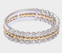 Exklusiver Ring Princesse mit Gold und Diamanten