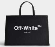 Handtasche Medium Box aus schwarzem Kalbsleder